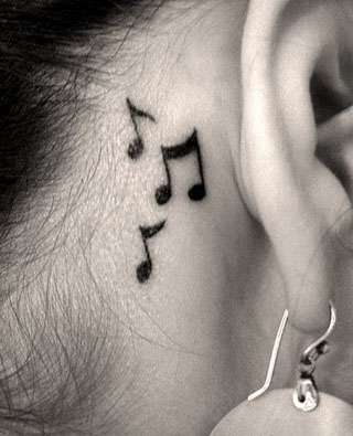Musical notes tattoo 1