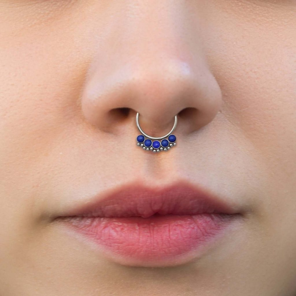 gold jewellery nose ring