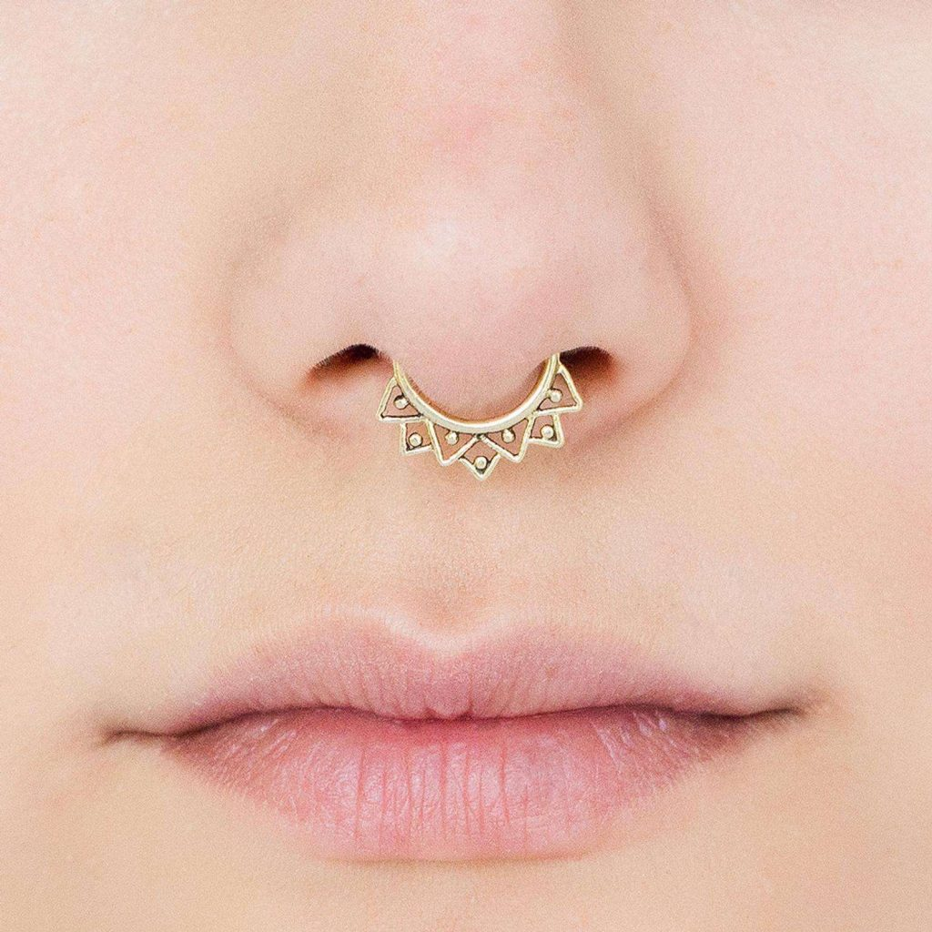 nose ring gold jewellery designs